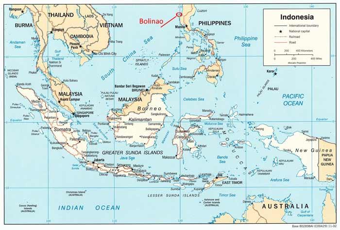 Karte Philippinen.Karte Philippinen